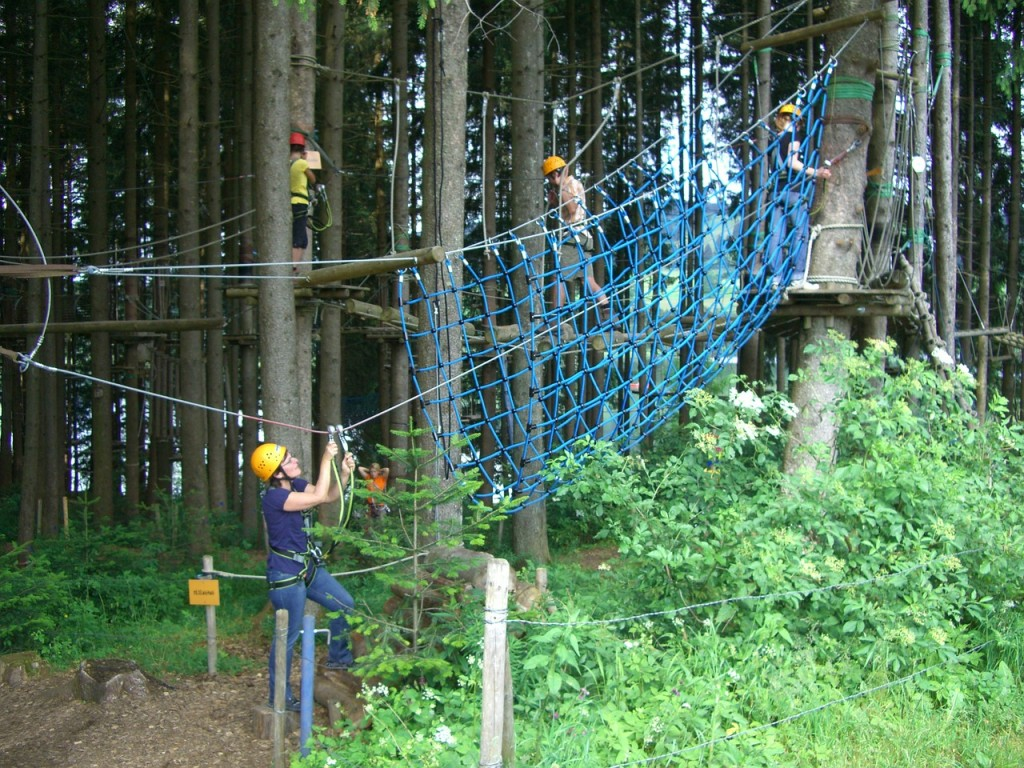 """High Ropes Course Climbing Forest"" CSU under CC BY 2.0 Retrieved from https://pixabay.com/en/high-ropes-course-climbing-forest-246113/"